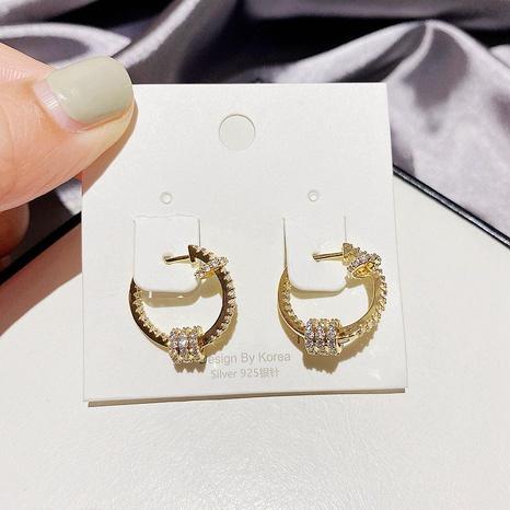 boucles d'oreilles rondes en cuivre zircon NHCG339903's discount tags