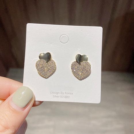 boucles d'oreilles coeur d'amour zircon NHCG339905's discount tags