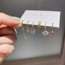 fashion zircon microinlaid sexy lips love earrings NHCG339912