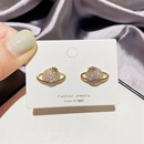 simple fashion Micro Inlaid Saturn Ball Earrings NHCG339913