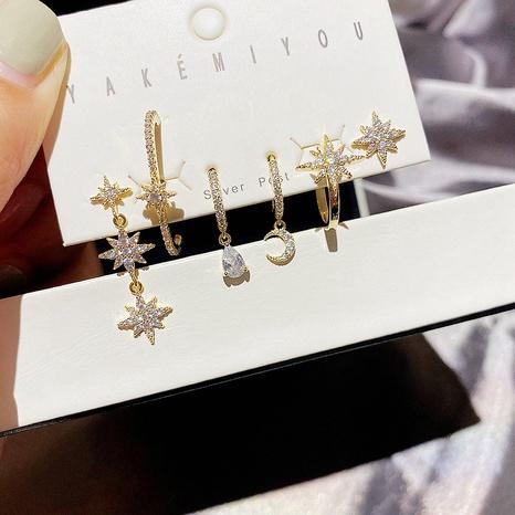 fashion zircon micro-inlaid mango star earrings  NHCG339917's discount tags