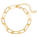 Punk Geometric Necklace Bracelet  NHYI339929