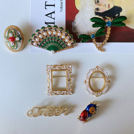 Vintage palace style pearl drip glaze brooch  NHOM339939's discount tags
