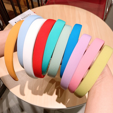 einfaches einfarbiges Stirnband mit breiter Krempe NHSA339978's discount tags