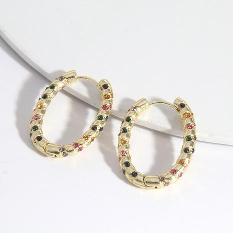 Boucles d'oreilles en zircon de couleur mixte en alliage de mode NHAYN340001's discount tags