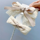 Fashion Multilayer Lace Ribbon Big Bow Hairpin NHFS340007