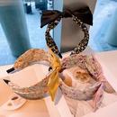 Korea small floral contrast color bow headband NHHD340016