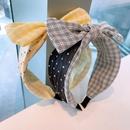 Korean widebrimmed bow polka dot fabric headband NHHD340027