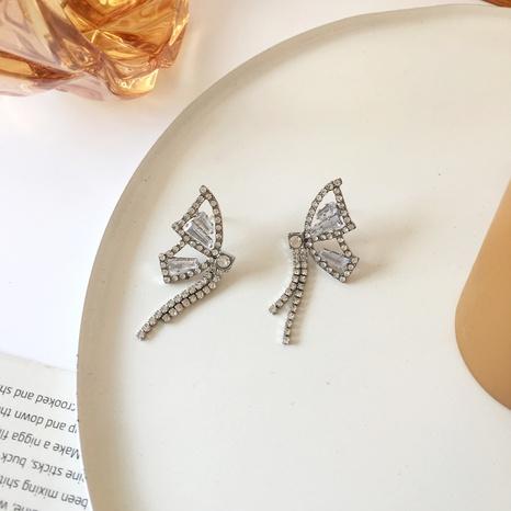 Mode Schmetterling Diamantlegierung Ohrringe NHBY340054's discount tags