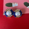 NHOM1573645-Hexagonal-Pearl-Silver-Needle-Stud-Earrings-2.2C