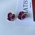 NHOM1573706-Purple-Flower-Silver-Needle-Stud-Earrings-2.1CM