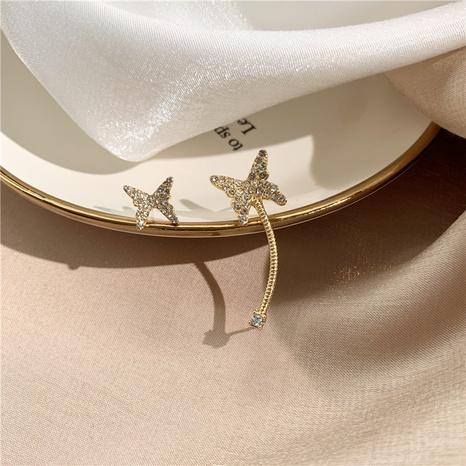 Mode neue Zirkon Skelett Schmetterling unregelmäßige Ohrringe NHOT340248's discount tags