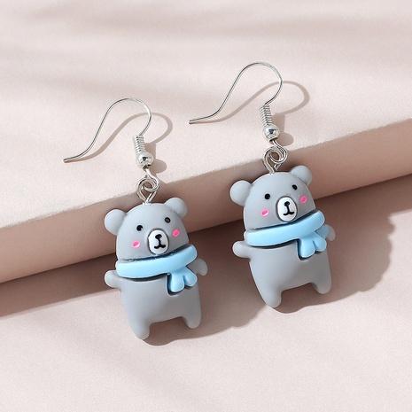 Cute bear acrylic earrings NHPS340064's discount tags