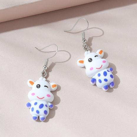 Fashion little cow acrylic earrings NHPS340065's discount tags