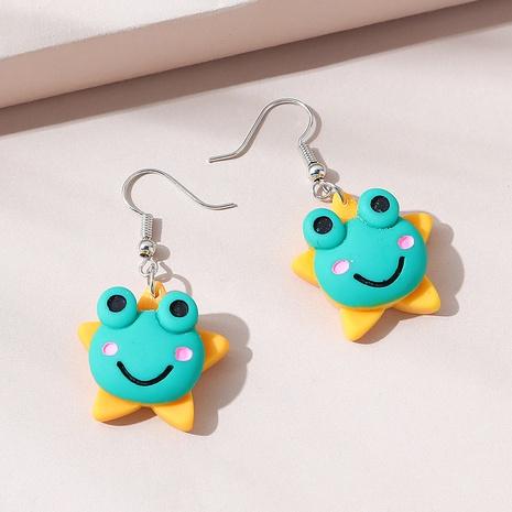Cute frog acrylic earrings NHPS340066's discount tags