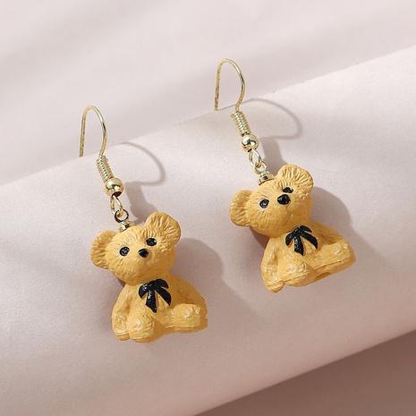 Korean little bear acrylic earrings NHPS340067's discount tags