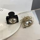 Retro big pearl acrylic clip  NHWF339212