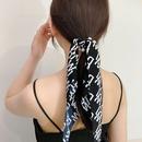 Korean flower printing pearl fabric hair rope NHWF339214