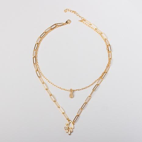 0 $ Seckill Nihao 8e anniversaire souvenir pour collier papillon en alliage de diamant NHBZN339524's discount tags
