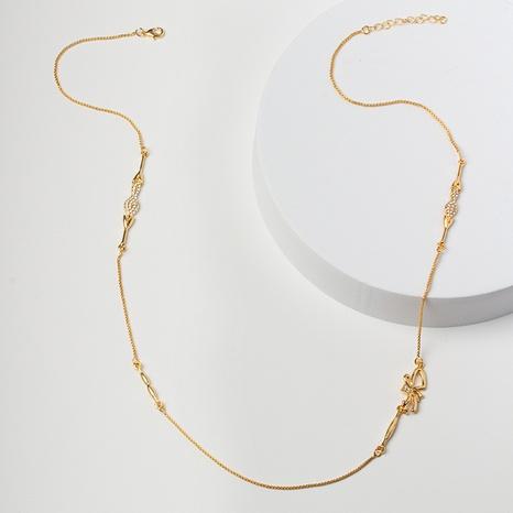 0 $ Souvenir du 8e anniversaire de Seckill Nihao pour chaîne de chandail papillon en alliage de diamant NHBZN339523's discount tags