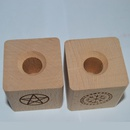 Pentagram Viking Compass Runes Symbol Wooden Candlestick Wholesale NHJIN340263