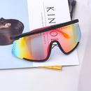 Fashion colorful onepiece geometric antiuv goggles wholesale NHLMO340288