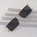 Fashion square small frame antiuv metal sunglasses wholesale NHLMO340320