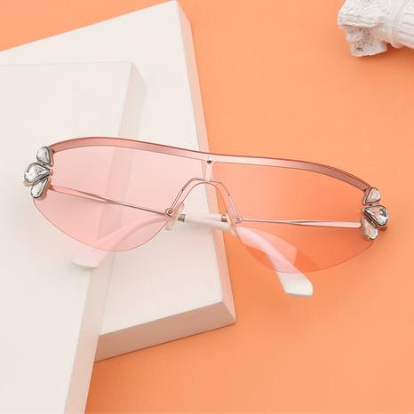 Mode Diamant Blume Anti-UV-Metall Sonnenbrille Großhandel NHLMO340333's discount tags