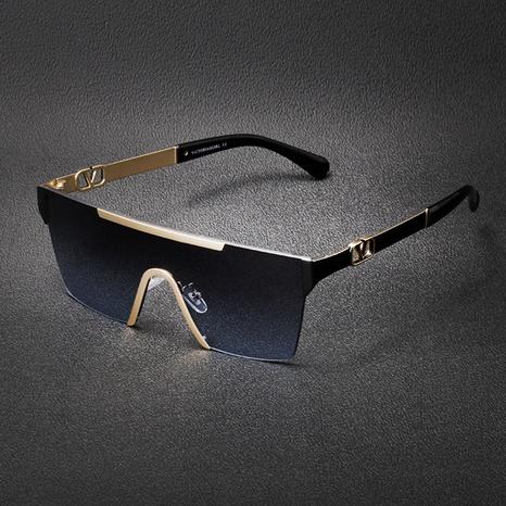 Gafas de sol de una pieza sin marco de metal de Corea del nuevo estilo de moda NHLMO340352's discount tags