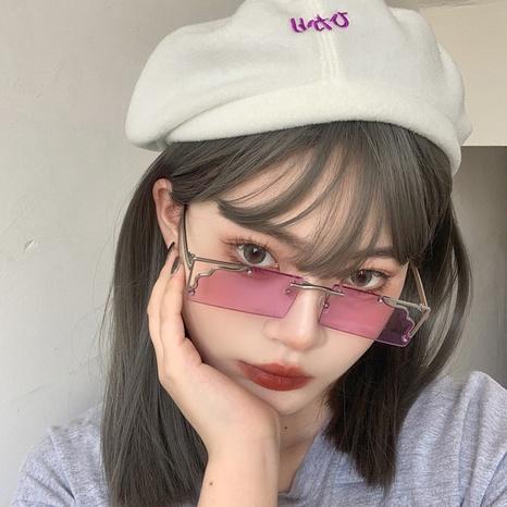 new fashion style korea corrugated frame sunglasses  NHLMO340360's discount tags