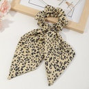 retro leopard print streamer large intestine hair scrunchies wholesale NHAU340373