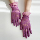Fashion solid color split finger lace edge sunscreen breathable gloves wholesale NHTQ340385