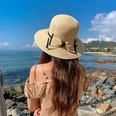 NHCM1575816-Dome-Double-Bow-Straw-Hat-Beige-One-size