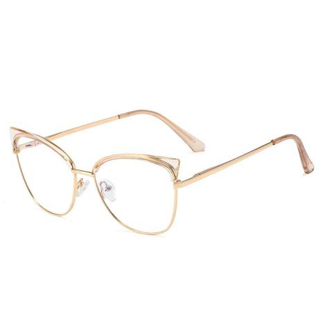 Fashion flat mirror anti-blue light metal glasses wholesale NHFY340212's discount tags