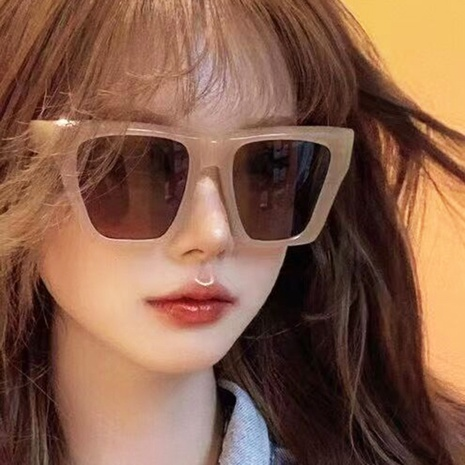 Jelly color big frame sunglasses NHKD340214's discount tags