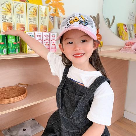 Chapeau de bec de canard rose à bord doux avec dôme en maille imprimée à la mode NHCM340483's discount tags
