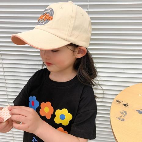 chapeau de soleil pour enfants multicolore lettre imprimée à la mode en gros NHCM340507's discount tags