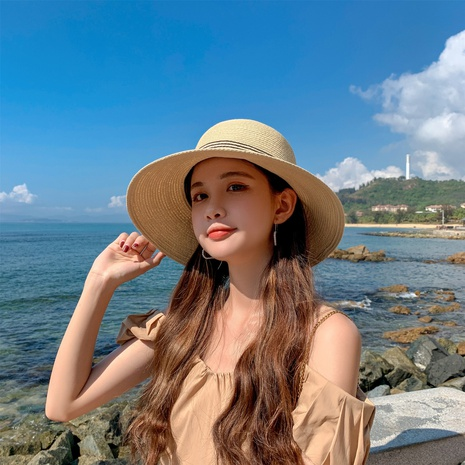 Fashion sunshade sunscreen straw hat NHCM340509's discount tags