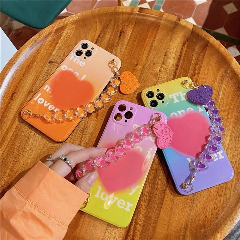 Korean style simple English love chain mobile phone case NHFI340518