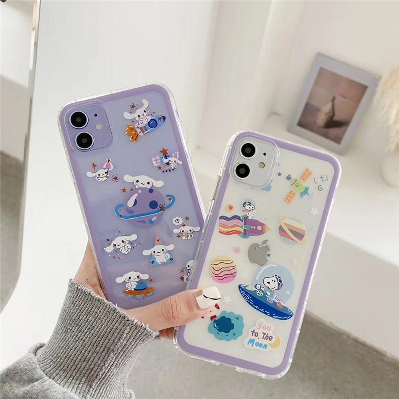Cute Planet Puppy Transparent Phone Case  NHFI340548