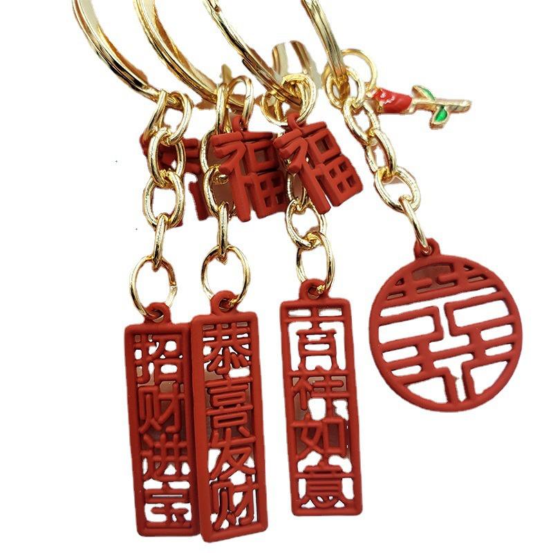 fashion festive Chinese character alloy small pendant wholesale NHDI340624