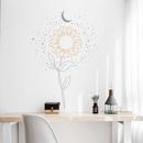 nouvelle lune littraire soleil fleur chambre porche stickers muraux NHAF340681