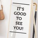 simple English slogan bedroom porch wall sticker NHAF340684