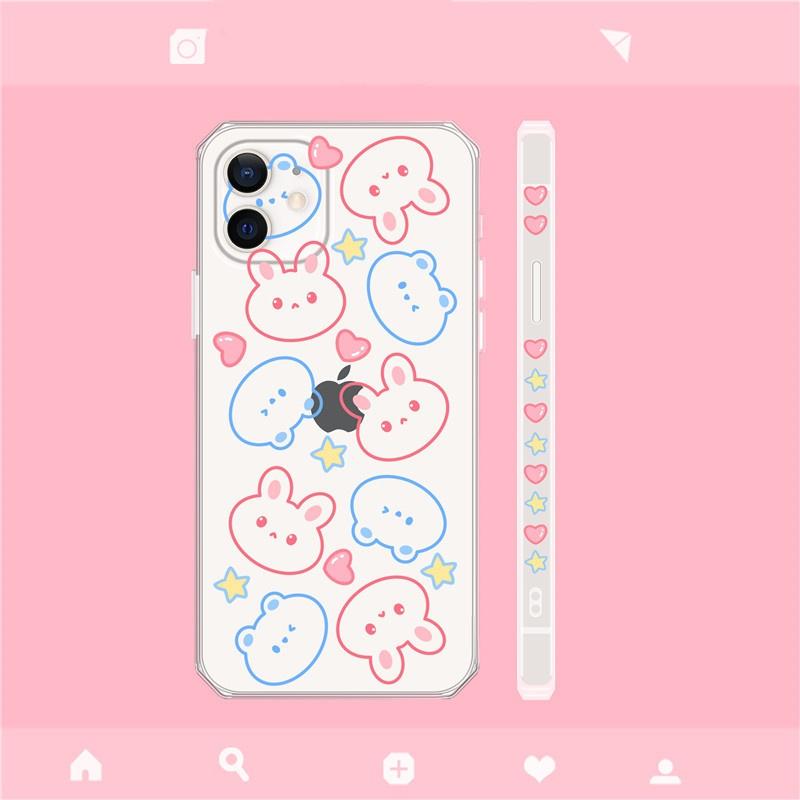korean fashion style bear rabbit mobile phone case NHFI340530