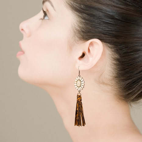 bohemian alloy white turquoise earrings  NHLN340758's discount tags