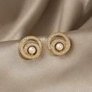 mode de style rtro nouvelles boucles d39oreilles simples en perles de cercle NHOT340797