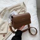 retro new fashion korean solid color oneshoulder messenger square bag NHJZ340891