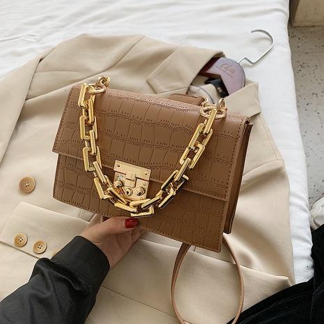 Modekette Steinmuster Schulter Messenger tragbare kleine quadratische Tasche Großhandel NHLH341019's discount tags