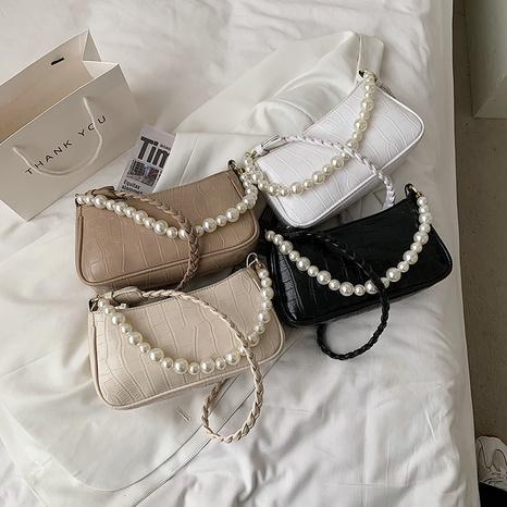 Mode Perlenkette Steinmuster Umhängetasche Großhandel NHLH341022's discount tags