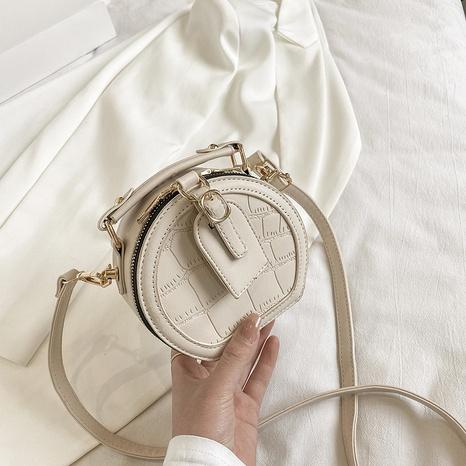 Petit sac rond en gros de messager d'épaule de chaîne de losange de mode NHLH341027's discount tags